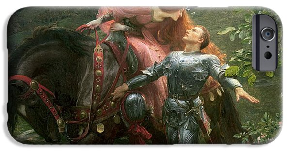 La Belle Dame Sans Merci IPhone Case by Sir Frank Dicksee