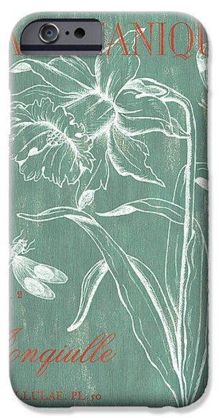 La Botanique Aqua IPhone Case by Debbie DeWitt