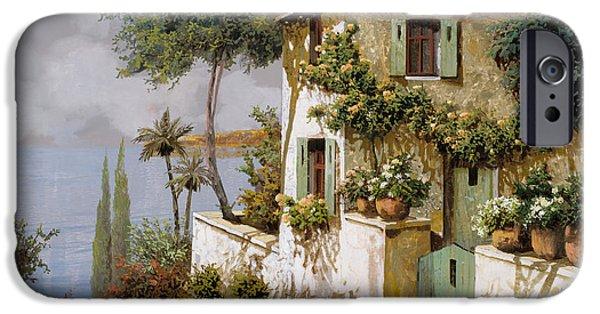 La Casa Giallo-verde IPhone Case by Guido Borelli