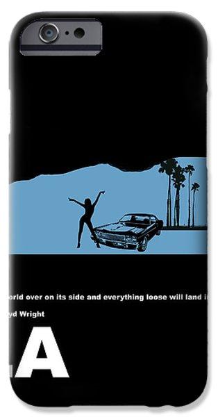 La Night Poster IPhone Case by Naxart Studio