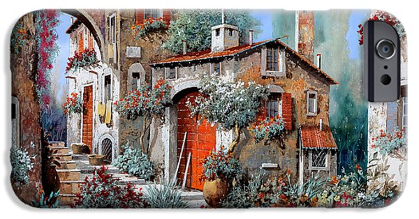 La Porta Rossa IPhone Case by Guido Borelli