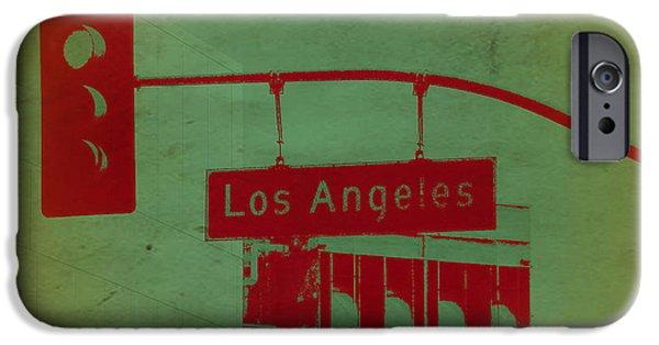 La Street Ligh IPhone Case by Naxart Studio