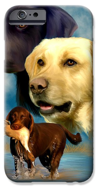 Labrador Retrievers IPhone Case by Becky Herrera