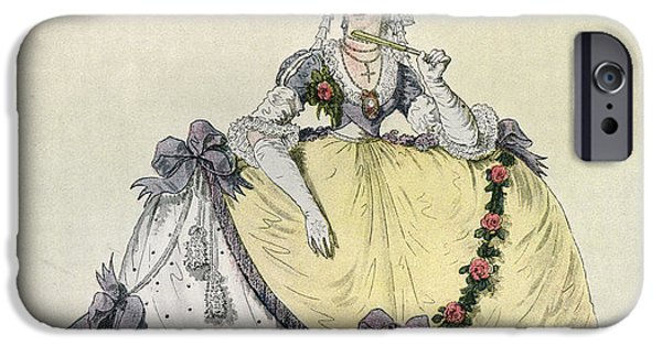 Lady In A Ball Gown At The English IPhone Case by Vintage Design Pics