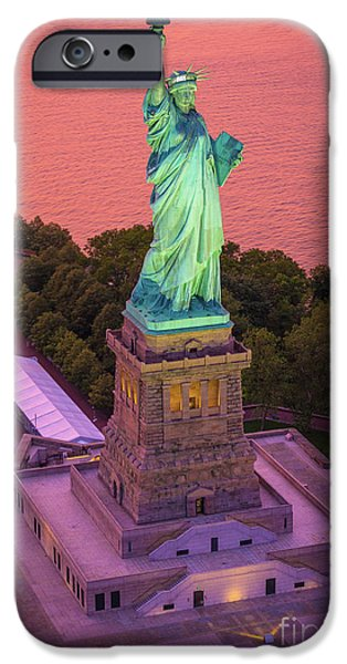 Lady Of Liberty IPhone Case by Inge Johnsson