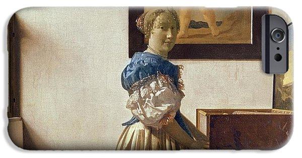 Lady Standing At The Virginal IPhone Case by Jan Vermeer