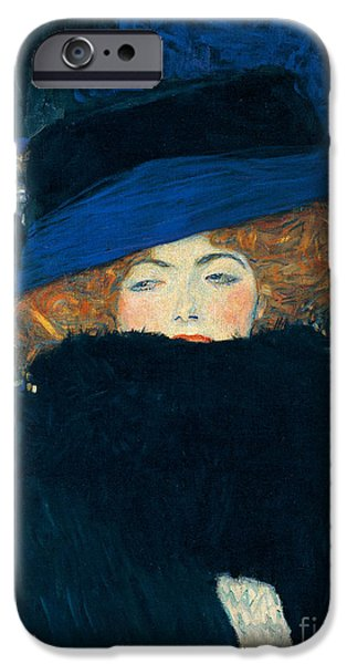 Lady With A Hat And A Feather Boa IPhone 6s Case by Gustav Klimt