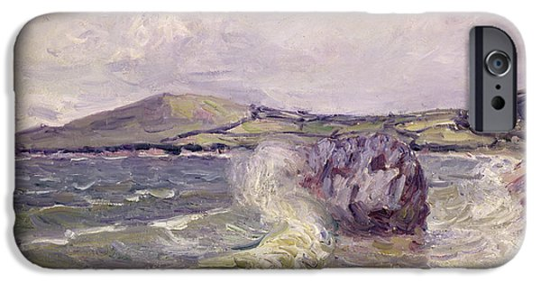 Ladys Cove Wales 1897 IPhone Case by Alfred Sisley