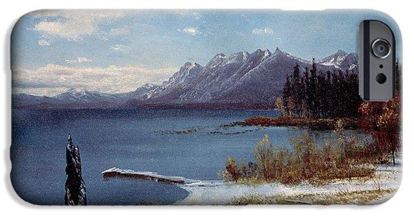 Lake Tahoe IPhone Case by Albert Bierstadt