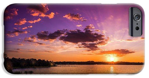 Lake Tarpon Sunset IPhone Case by Marvin Spates