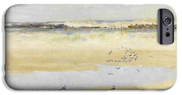 Lapwings By The Sea IPhone 6s Case by William James Laidlay