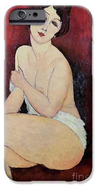 Large Seated Nude IPhone Case by Amedeo Modigliani