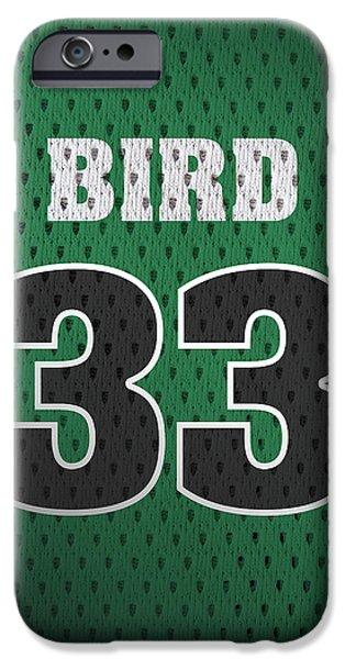 Larry Bird Boston Celtics Retro Vintage Jersey Closeup Graphic Design IPhone 6s Case by Design Turnpike