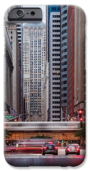 Lasalle Street Canyon With Chicago Board Of Trade Building At The South Side II - Chicago Illinois IPhone 6s Case by Silvio Ligutti