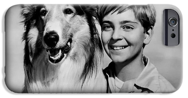 Lassie And Tommy Rettig 1958 IPhone Case by Mountain Dreams