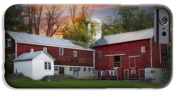 Last Light At The Red Barn IPhone Case by Susan Candelario