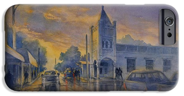 Last Light, High Street At Seventh IPhone Case by Virgil Carter