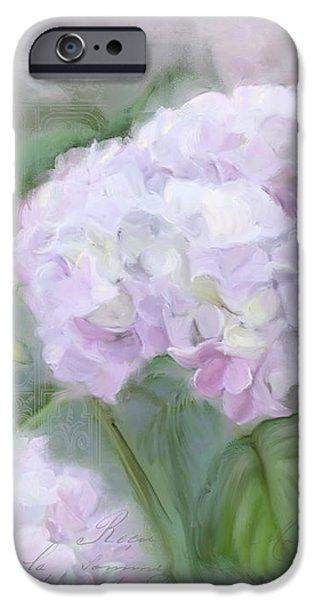 Lavender Hydrangea Romantic Garden IPhone Case by Audrey Jeanne Roberts