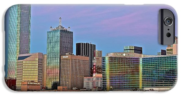 Lavender Skies In Big D IPhone Case by Frozen in Time Fine Art Photography
