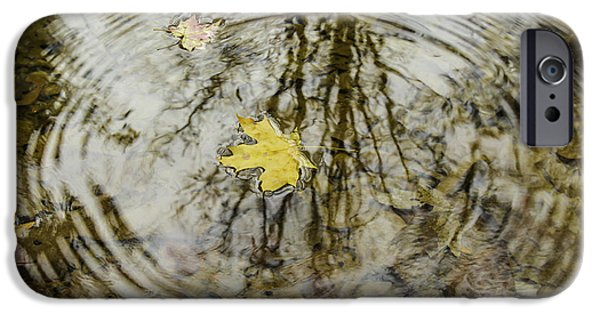 Leaves And Water IPhone Case by Andrew McElvery