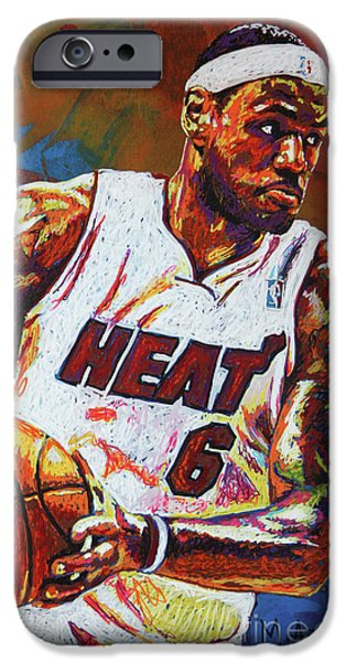Lebron James 3 IPhone 6s Case by Maria Arango