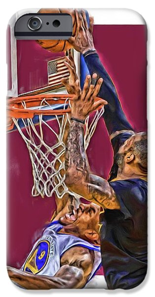 Lebron James Cleveland Cavaliers Oil Art IPhone 6s Case by Joe Hamilton
