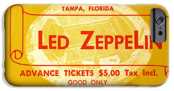 Led Zeppelin Ticket IPhone 6s Case by David Lee Thompson