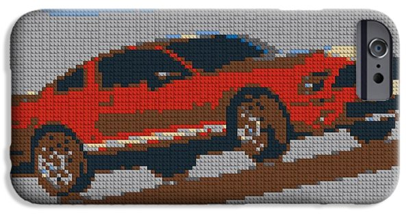 Lego Mustang IPhone Case by Dan Sproul