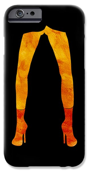 Legs Of A Fashion Model IPhone Case by Frank Tschakert