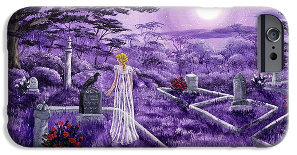 Lenore In Lavender Moonlight IPhone Case by Laura Iverson
