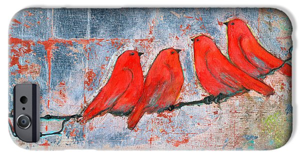 Let It Be, Four Birds  IPhone Case by Blenda Studio