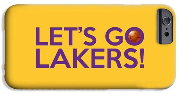 Let's Go Lakers IPhone Case by Florian Rodarte