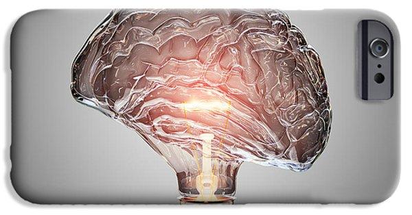 Light Bulb Brain IPhone Case by Johan Swanepoel