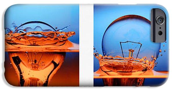 Light Bulb Drop In To The Water IPhone Case by Setsiri Silapasuwanchai