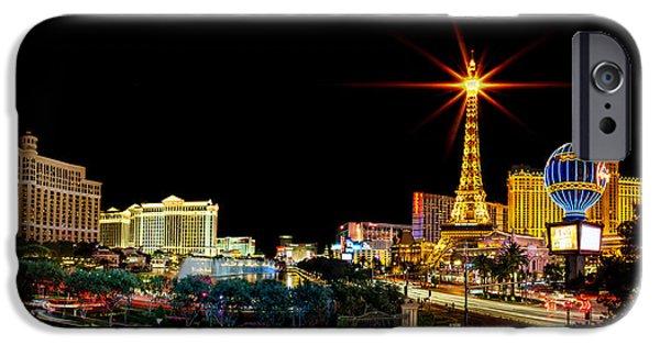 Lighting Up Vegas IPhone Case by Az Jackson
