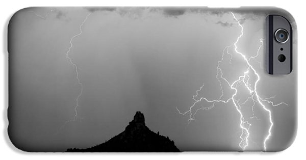 Lightning Thunderstorm At Pinnacle Peak Bw IPhone 6s Case by James BO  Insogna