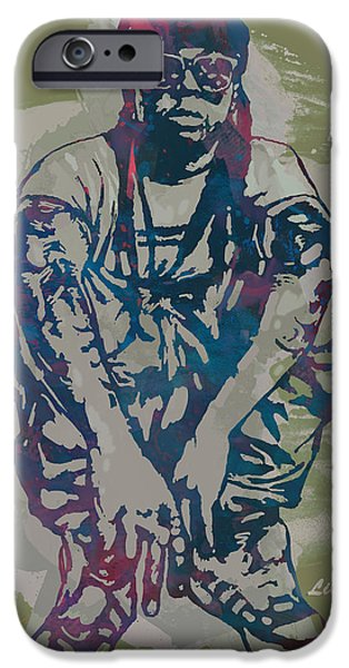 Lil Wayne Pop Stylised Art Poster IPhone Case by Kim Wang