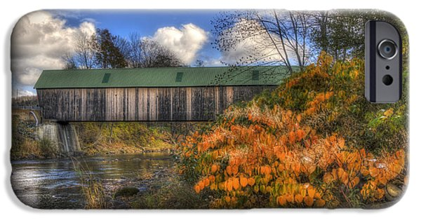 Lincoln Covered Bridge - Woodstock, Vt IPhone Case by Joann Vitali
