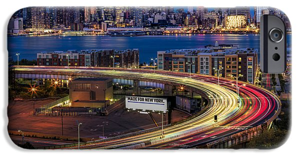 Lincoln Tunnel Helix And Nyc Skyline IPhone Case by Susan Candelario