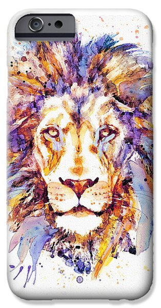 Lion Head IPhone Case by Marian Voicu