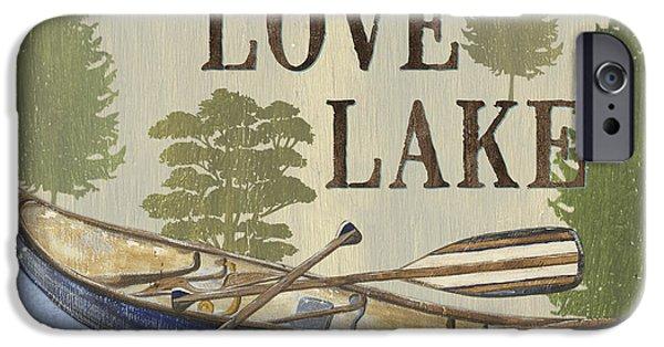 Live, Love Lake IPhone Case by Debbie DeWitt