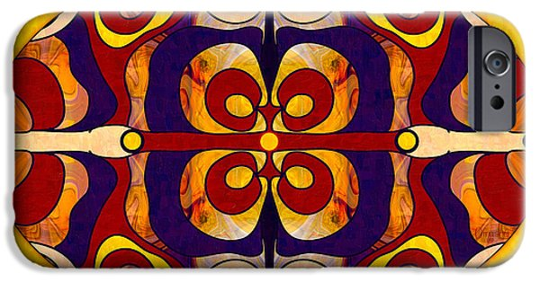 Living In A Mandala Abstract Bliss Art By Omashte IPhone Case by Omaste Witkowski