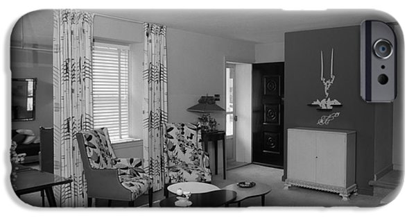 Living Room Interior, C.1950s IPhone Case by H. Armstrong Roberts/ClassicStock