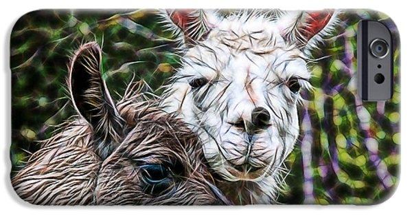 Llamas IPhone Case by Marvin Blaine