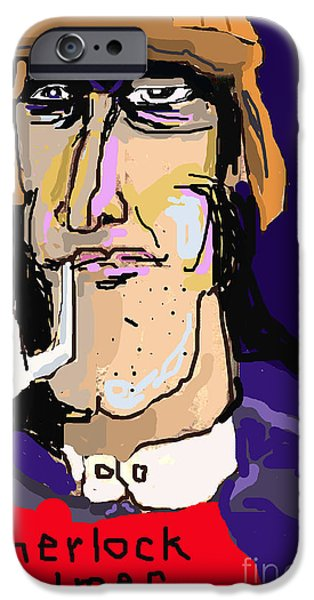 London And Sherlock IPhone Case by Joe Jake Pratt