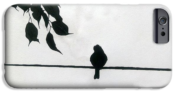 Lonely Bird  IPhone Case by Silpa Saseendran