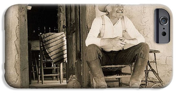 Lonesome Dove Gus On Porch Signed Print IPhone Case by Peter Nowell