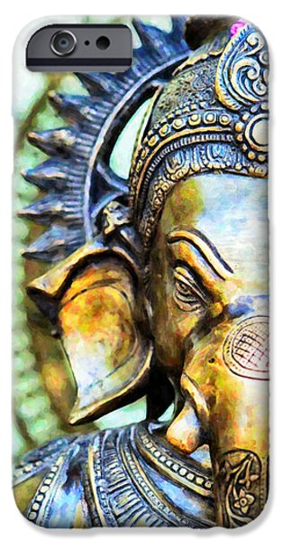 Lord Ganesha IPhone Case by Tim Gainey