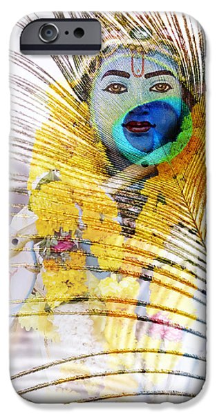 Lord Krishna IPhone Case by Tim Gainey