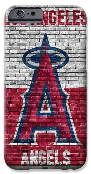 Los Angeles Angels Brick Wall IPhone Case by Joe Hamilton